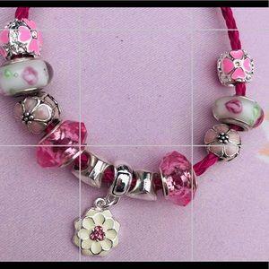 Pink pandora bracelet & Charm